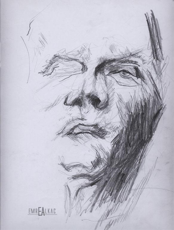 çizim emre alkaç karakalem sketches