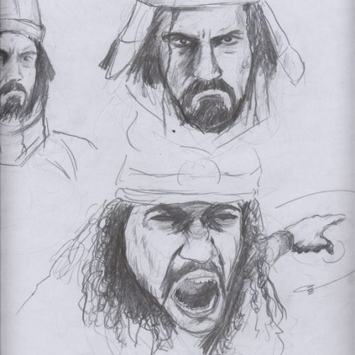 300 spartalı çizim emre alkaç drawing sketches
