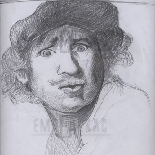 rembrandt drawing sketches çizim emre alkaç
