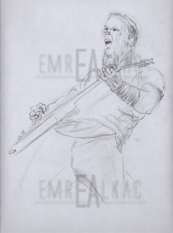 james çizim metallica draw