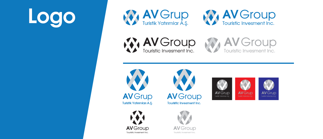 av grup turistik yatırımlar aş kurumsal kimlik şirket logosu