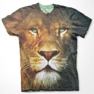 3d hayvan tshirt aslan lion tshirt özel tasarım