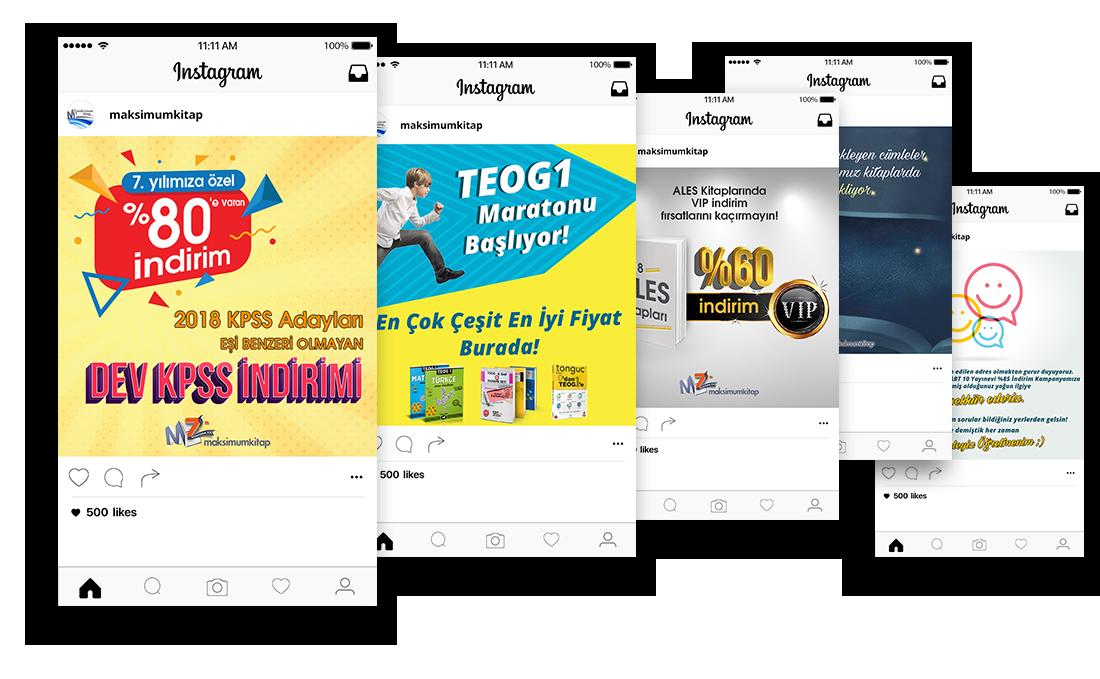 maksimum kitap instagram reklam tasarım