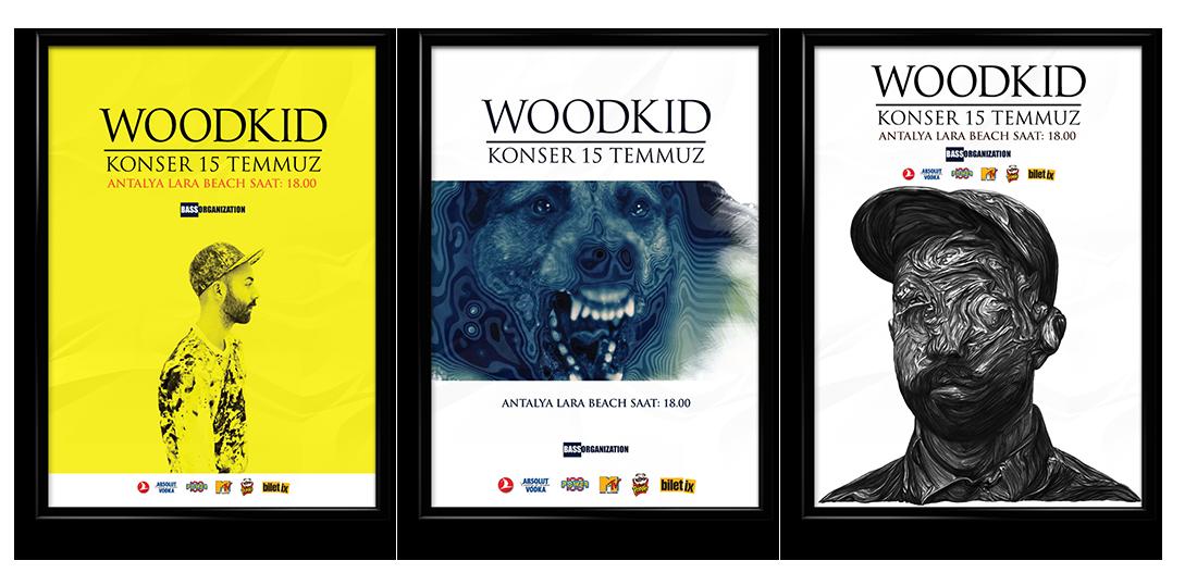 woodkid poster concert design afiş tasarım konser