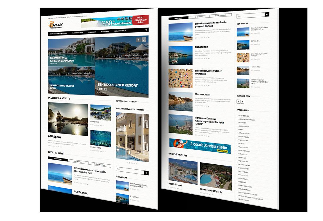 otel rezervasyon web site tasarım