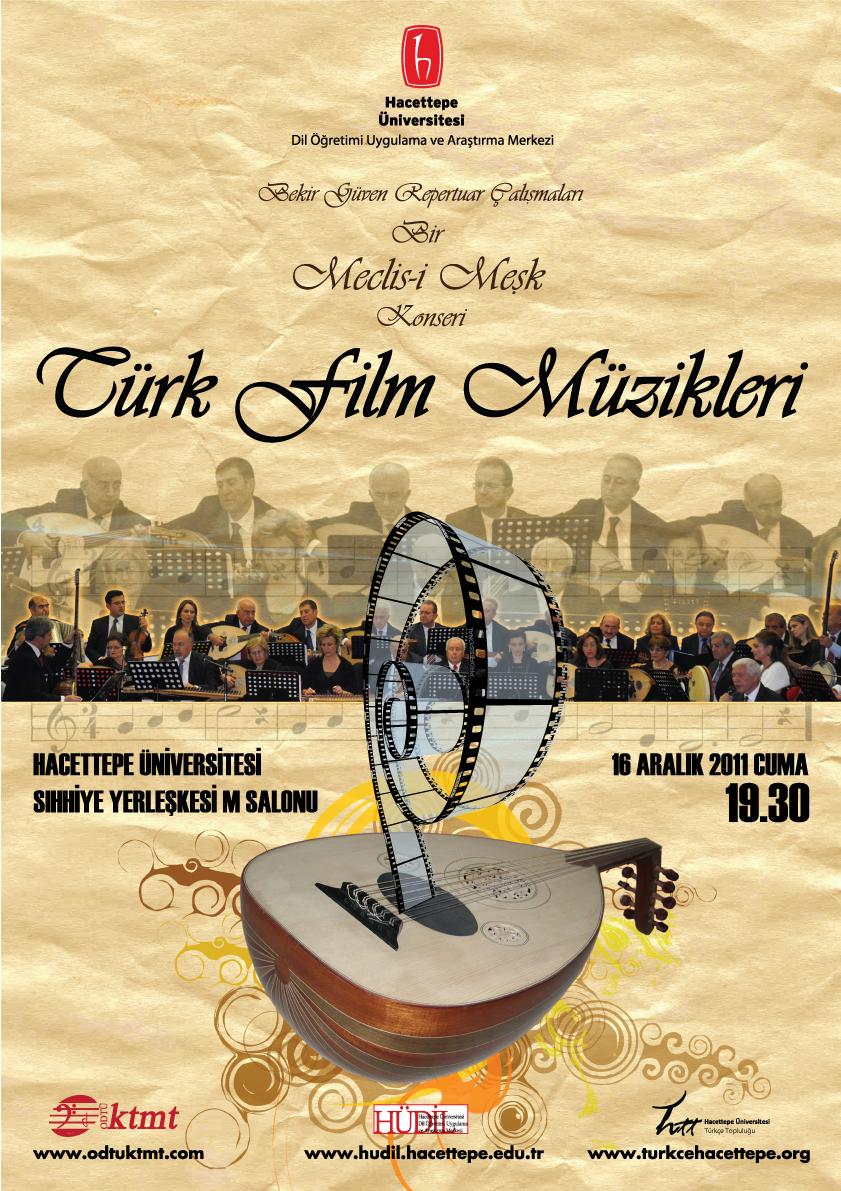türk film müzikleri afiş tasarım