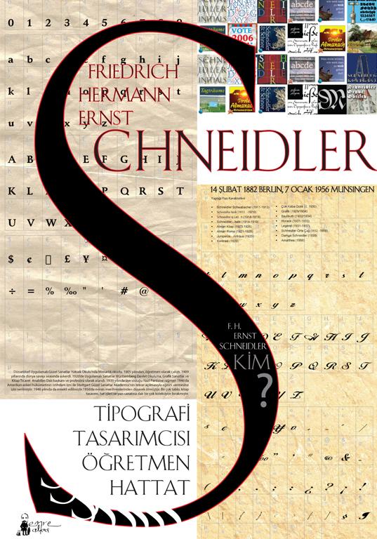 scheidler typography poster