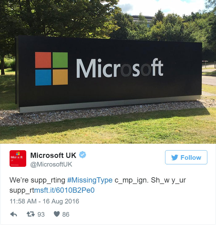 missingtype campaign