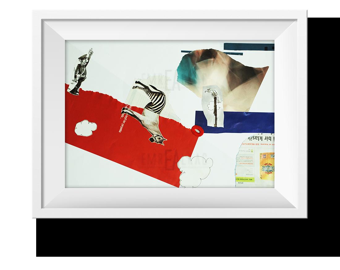 collage artwork emre alkaç kolaj çalışması