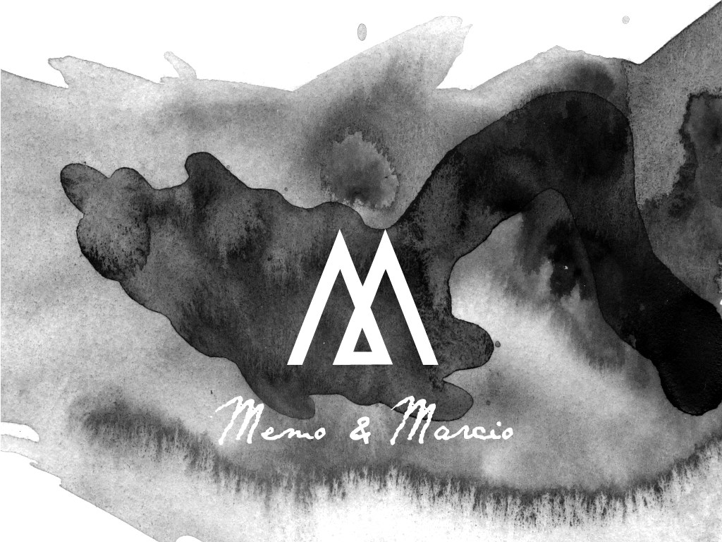 mm logo album cover design black white