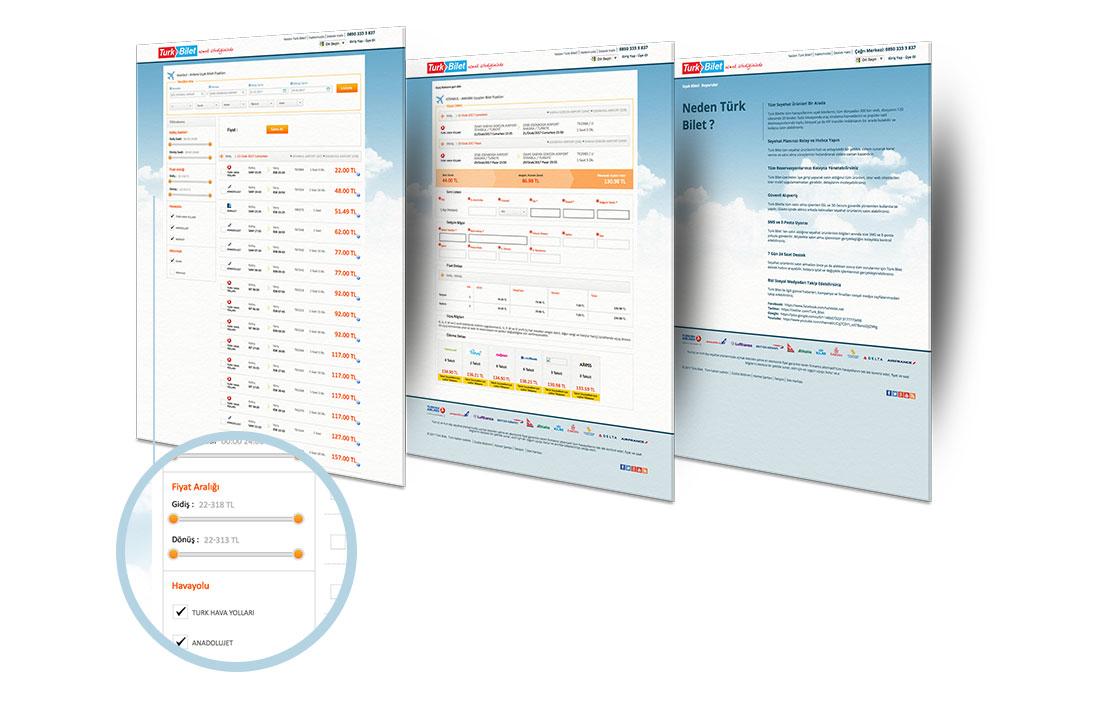 flight website design uçak bilet sitesi tasarımı
