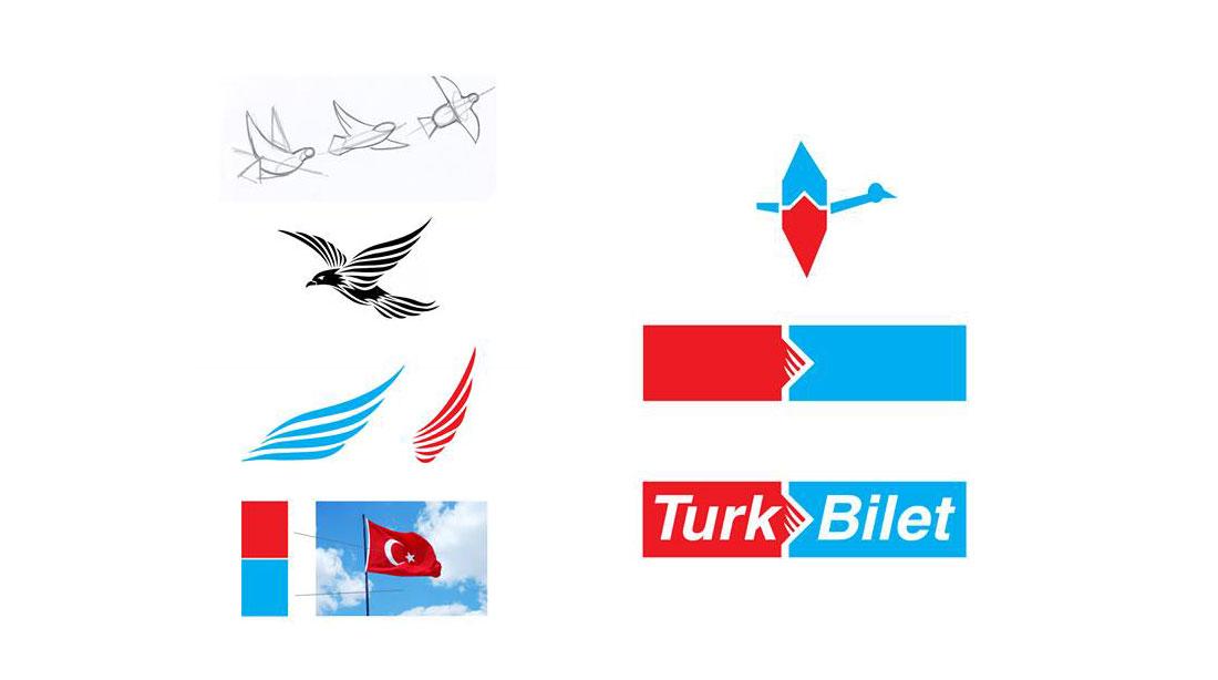 turk bilet branding logo tasarım şirket sketches