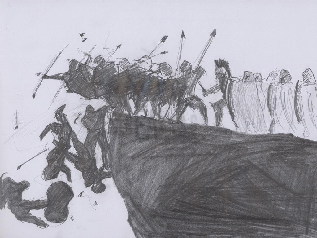 300 spartans draw çizim emre alkaç
