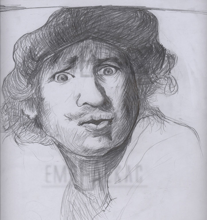 rembrandt drawing sketches çizim emre alkaç
