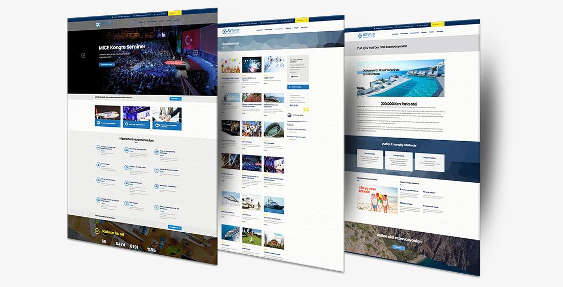 av grup turistik şirket web tasarım arayüz tasarımı mobil uyumlu web site tasarımı