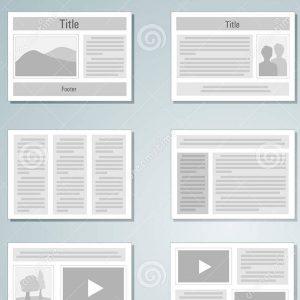 portfolio layout şablon örnek