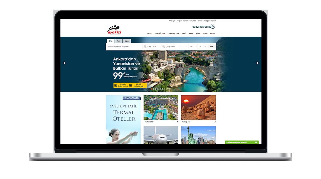 seyahat turizm acente website tasarımı