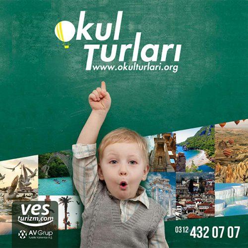 okul turları broşür katalog tasarımı