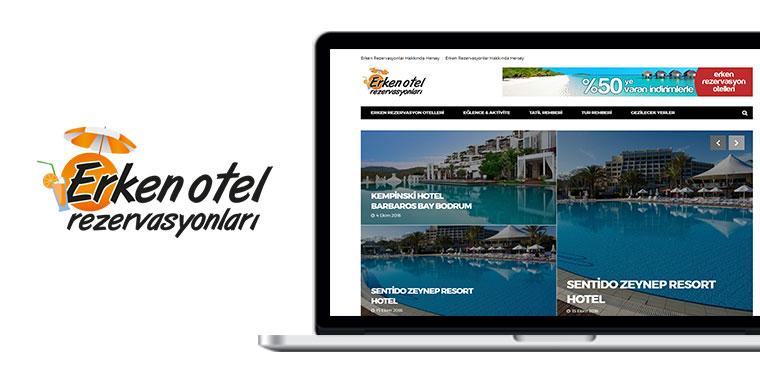 erken otel rezervasyon web sitesi tasarım
