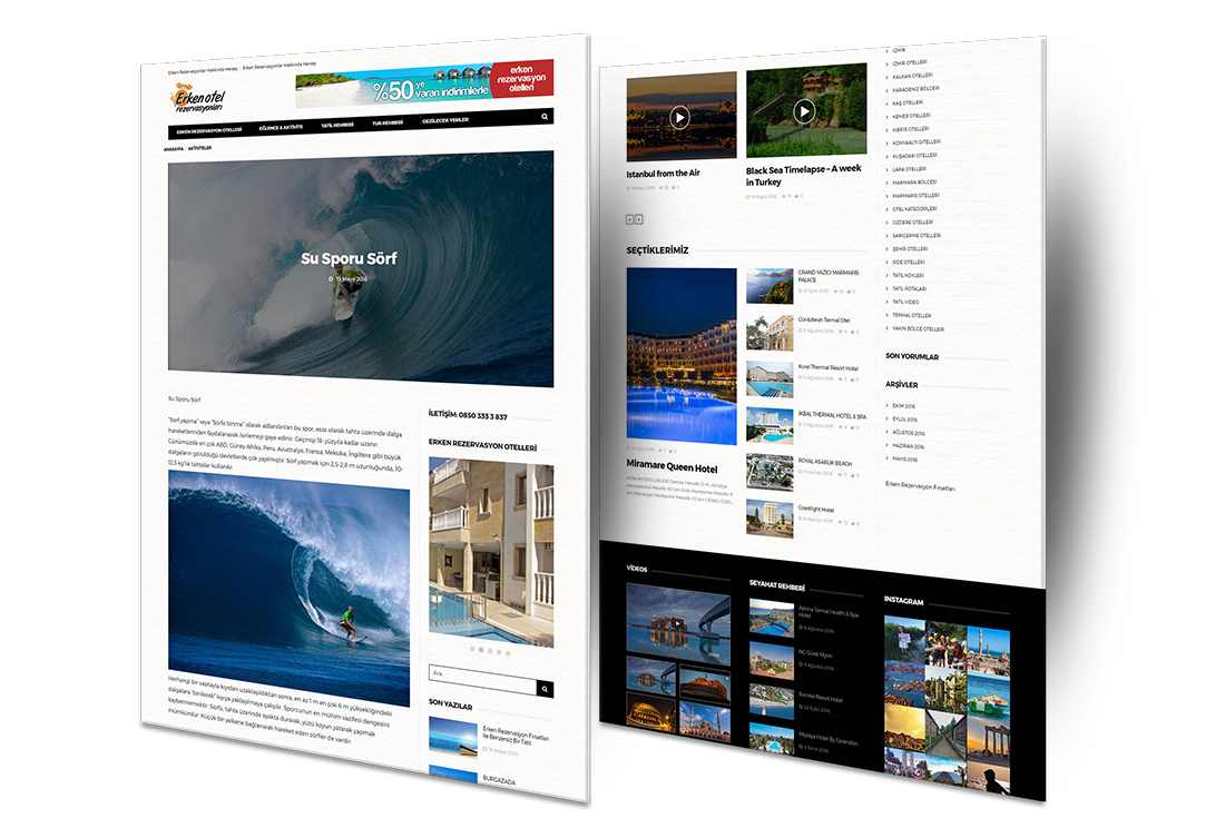 otel web site tasarımı