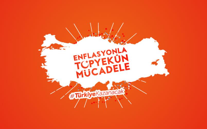 Enflasyonla Topyekun Mücadele Logo Vektör
