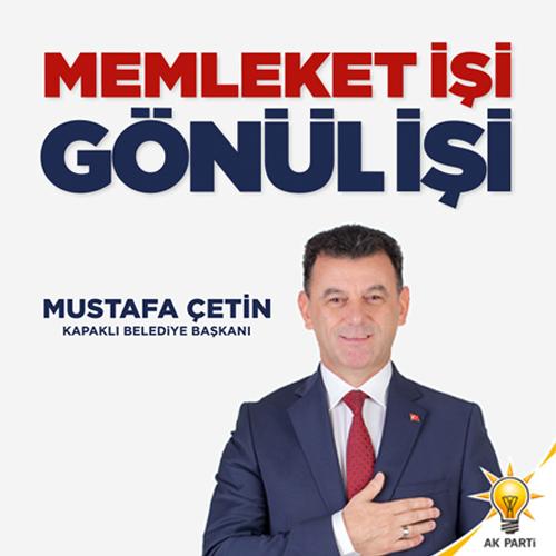Mustafa Çetin Kapaklı Belediye Başkanı