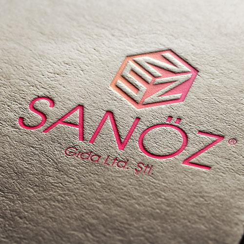 sanöz gıda logo tasarım