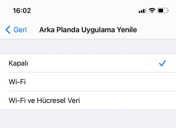 iphone şarjını uzun kullanma ipuçları arka planda uygulama yenileme