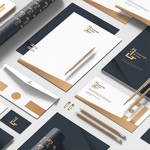 language and law logo design