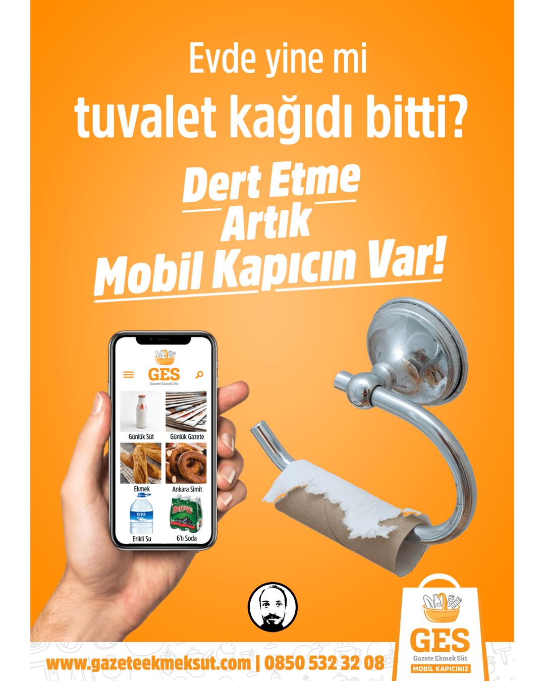 tuvalet kağıdı reklam